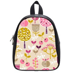 Retro Fruit Leaf Tree Orchard School Bags (Small)