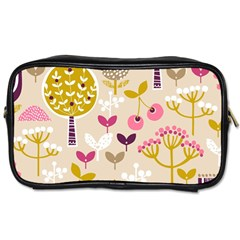 Retro Fruit Leaf Tree Orchard Toiletries Bags 2-Side