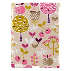 Retro Fruit Leaf Tree Orchard Apple iPad 3/4 Hardshell Case (Compatible with Smart Cover)