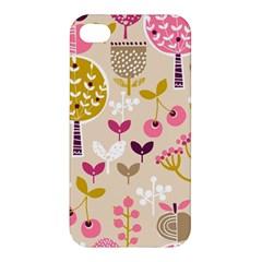 Retro Fruit Leaf Tree Orchard Apple iPhone 4/4S Premium Hardshell Case