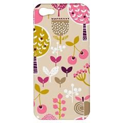 Retro Fruit Leaf Tree Orchard Apple iPhone 5 Hardshell Case