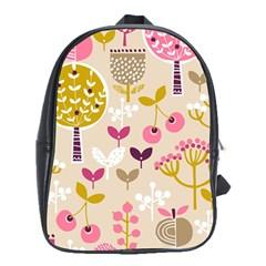 Retro Fruit Leaf Tree Orchard School Bags (XL)