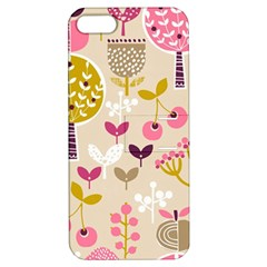 Retro Fruit Leaf Tree Orchard Apple iPhone 5 Hardshell Case with Stand