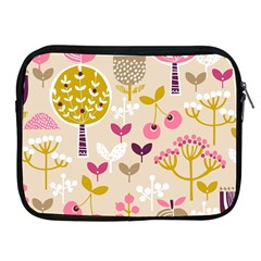 Retro Fruit Leaf Tree Orchard Apple iPad 2/3/4 Zipper Cases