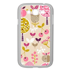 Retro Fruit Leaf Tree Orchard Samsung Galaxy Grand DUOS I9082 Case (White)