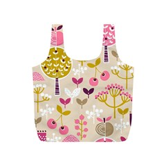 Retro Fruit Leaf Tree Orchard Full Print Recycle Bags (S)