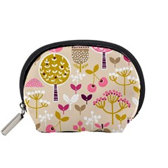 Retro Fruit Leaf Tree Orchard Accessory Pouches (Small)