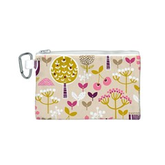 Retro Fruit Leaf Tree Orchard Canvas Cosmetic Bag (S)