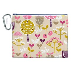 Retro Fruit Leaf Tree Orchard Canvas Cosmetic Bag (XXL)