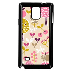 Retro Fruit Leaf Tree Orchard Samsung Galaxy Note 4 Case (Black)