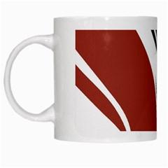 Red Black White Mugs