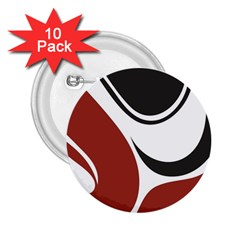 Red Black 2.25  Buttons (10 pack)