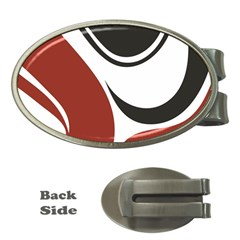 Red Black Money Clips (Oval)