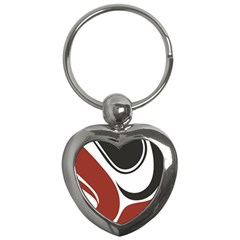Red Black Key Chains (Heart)