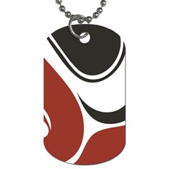 Red Black Dog Tag (One Side)