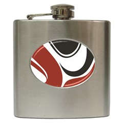 Red Black Hip Flask (6 oz)