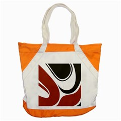 Red Black Accent Tote Bag