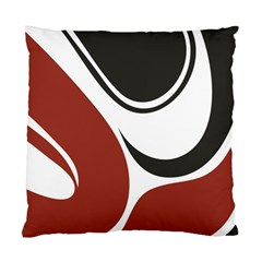 Red Black Standard Cushion Case (One Side)