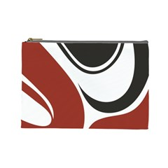 Red Black Cosmetic Bag (Large)