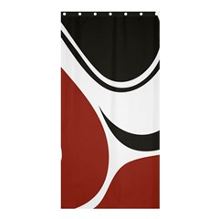 Red Black Shower Curtain 36  x 72  (Stall)