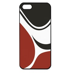 Red Black Apple iPhone 5 Seamless Case (Black)