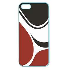 Red Black Apple Seamless iPhone 5 Case (Color)