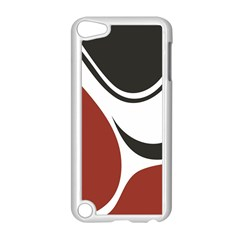 Red Black Apple iPod Touch 5 Case (White)