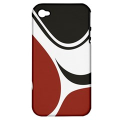 Red Black Apple iPhone 4/4S Hardshell Case (PC+Silicone)