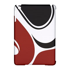 Red Black Apple iPad Mini Hardshell Case (Compatible with Smart Cover)