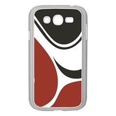 Red Black Samsung Galaxy Grand DUOS I9082 Case (White)