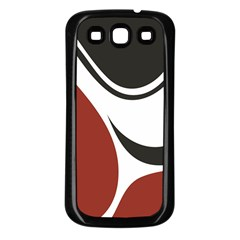 Red Black Samsung Galaxy S3 Back Case (Black)