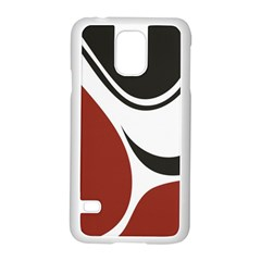 Red Black Samsung Galaxy S5 Case (White)