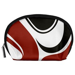 Red Black Accessory Pouches (Large)