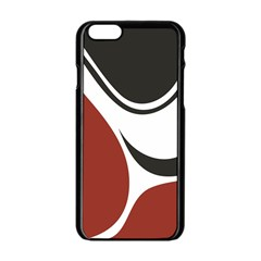 Red Black Apple iPhone 6/6S Black Enamel Case