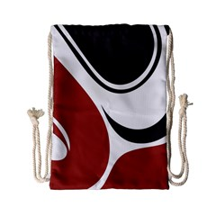 Red Black Drawstring Bag (Small)