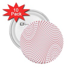 Red Circle 2.25  Buttons (10 pack)