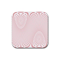 Red Circle Rubber Coaster (Square)