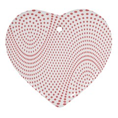 Red Circle Heart Ornament (Two Sides)