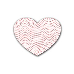 Red Circle Rubber Coaster (Heart)
