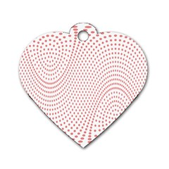 Red Circle Dog Tag Heart (Two Sides)