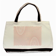 Red Circle Basic Tote Bag (Two Sides)