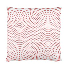 Red Circle Standard Cushion Case (Two Sides)
