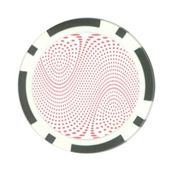Red Circle Poker Chip Card Guard (10 pack)
