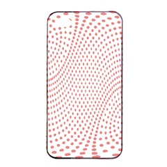Red Circle Apple iPhone 4/4s Seamless Case (Black)