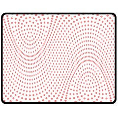 Red Circle Double Sided Fleece Blanket (Medium)