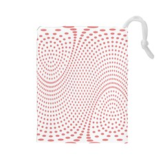 Red Circle Drawstring Pouches (Large)
