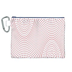 Red Circle Canvas Cosmetic Bag (XL)