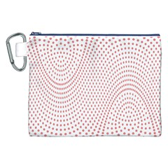 Red Circle Canvas Cosmetic Bag (XXL)