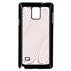 Red Circle Samsung Galaxy Note 4 Case (Black)