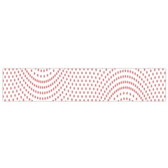 Red Circle Flano Scarf (Small)